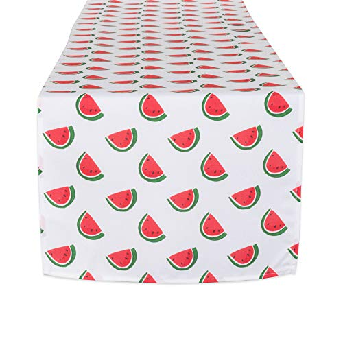 (DII CAMZ11296 Table Runner, Spilll Proof and Waterproof for Outdoor or Indoor Use, Machine Washable 14x72 Watermelon)