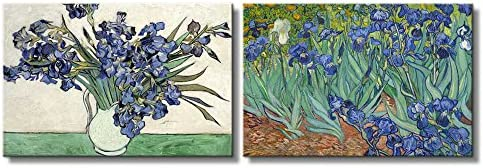 Irises and Roses Irises by Vincent Van Gogh Oil Painting Reproduction in Set of Panels