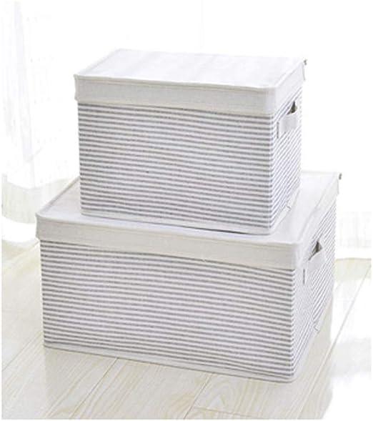 caja de almacenamiento plegable de algodón y lino engrosada caja ...
