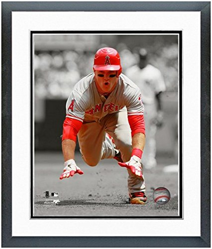 Photograph Angels Angeles Los (Mike Trout Los Angeles Angels MLB Spotlight Action Photo (Size: 12.5