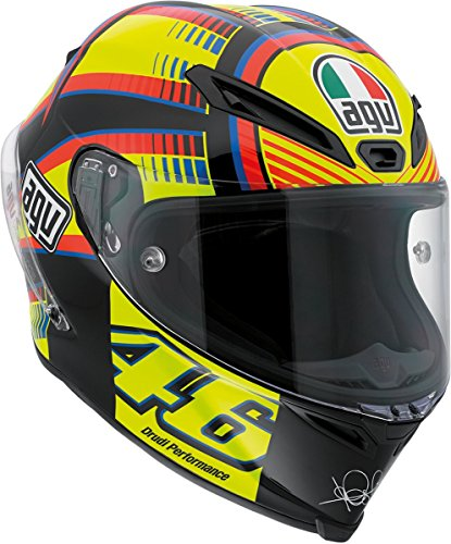 AGV Corsa Soleluna Full Face Motorcycle Helmet (Black/Yellow/Red/Blue, XX-Large)