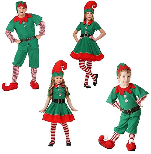 6d148f325f56b Zollzirr Festival Adult And Children Holiday Elf Costume Santa Claus ...