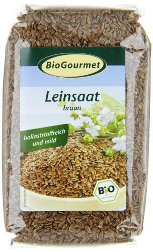 BioGourmet Leinsaat, braun,1er Pack (1x 250 g Beutel) - Bio