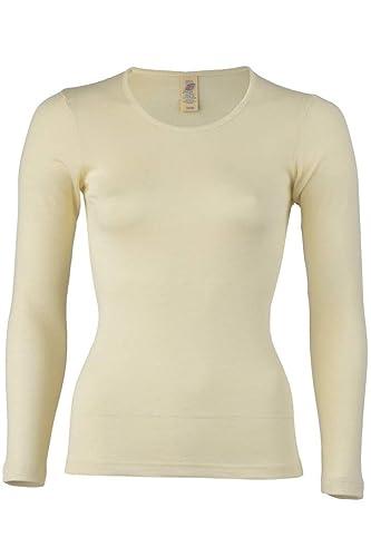 ccd30d27712e5 Engel Camiseta térmica de Manga Larga para Mujer 70% Lana de Merino  orgánica 30