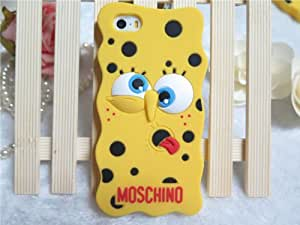 XREXS ® New Fashion SpongeBob Silicone Protective Case for Apple iPhone 5 5S-Style B