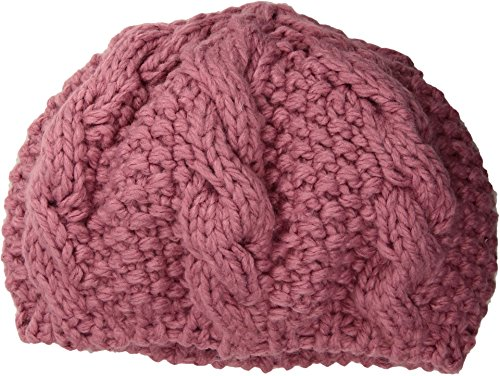 Popcorn Cable Hat - San Diego Hat Company Women's Crochet Knit Cable Beret, Blush, One Size