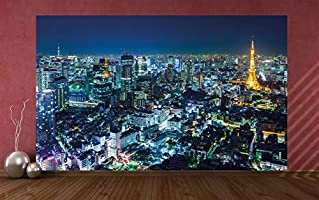 GREAT ART Foto Mural New York City Skyline 336 x 238 cm Papel Pintado 8 Piezas incluye Pasta para pegar