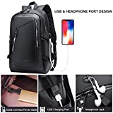 DYJ Leather Laptop Water Resistant Backpack for