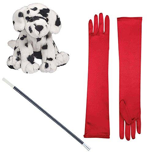 Plush Dalmation Red Opera Gloves Cigarette Holder (Dalmation Costume Ideas)