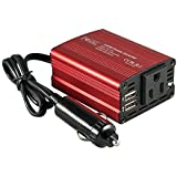 Foval 150W Car Power Inverter DC 12V to 110V AC Converter with 3.1A Dual USB Charger