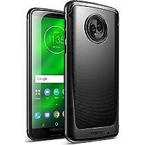 Moto G6 Plus Case, Poetic Karbon Shield [Shock Absorbing] Slim Fit TPU Case with [Carbon Fiber Texture] for Motorola Moto G6 Plus Black