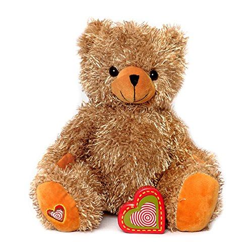 My Baby's Heartbeat Bear - Tan Teddy Bears Stuffed Animals w/ a 20 sec Voice Recorder - Lil 8