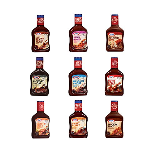 Kraft BBQ Sauce Variety Pack Includes: Original/Sweet Honey/Mesquite Smoke/Hickory Smoked/Hot & Spicy/Thick & Spicy/Sweet & Spicy/Sweet Brown Sugar/Spicy Honey