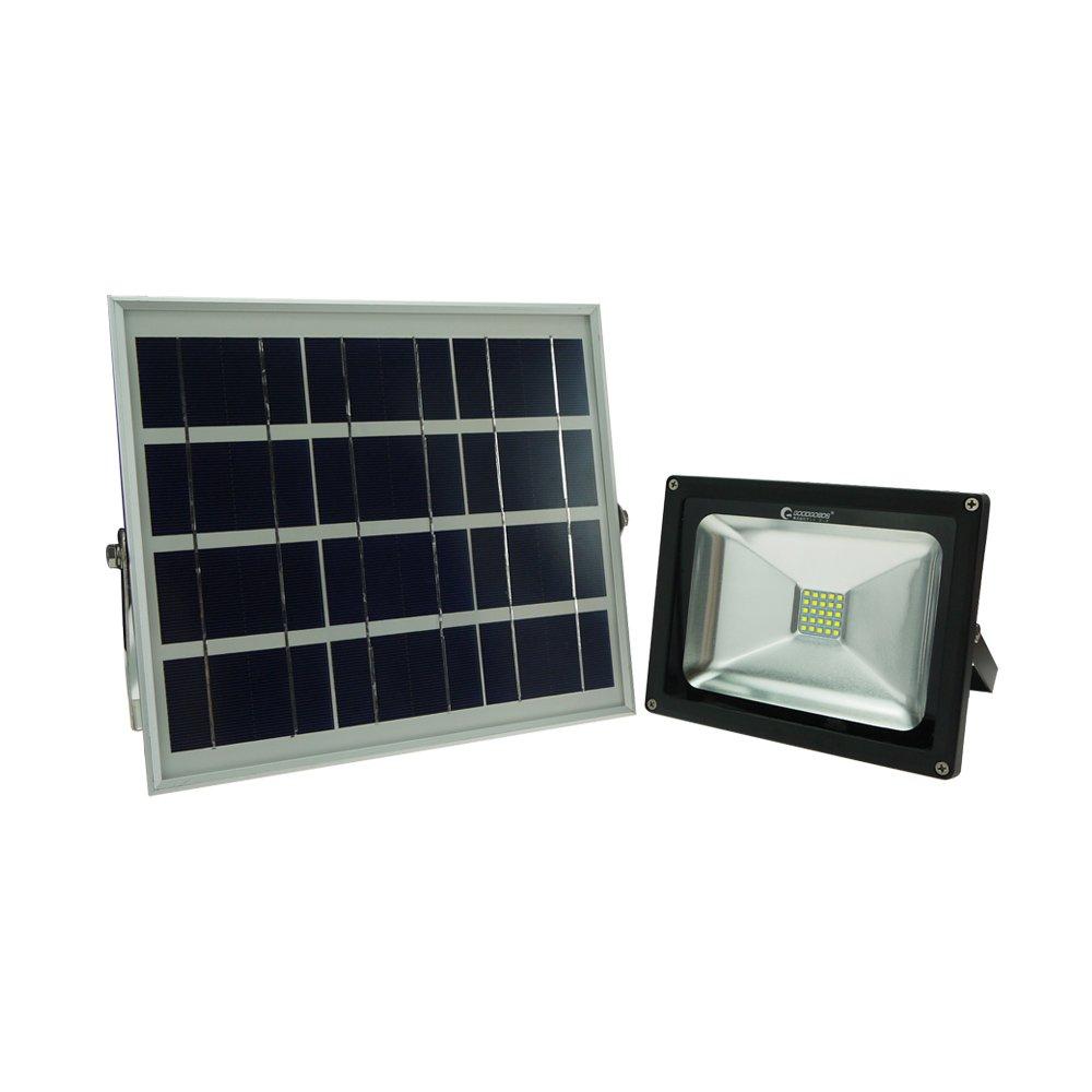 GOODGOODS LED ガーデンライト ソーラー 屋外 防水 20W 充電式 電池交換対応式 光センサー付き 【一年保証】 TYH-25T B01LA8D9E4