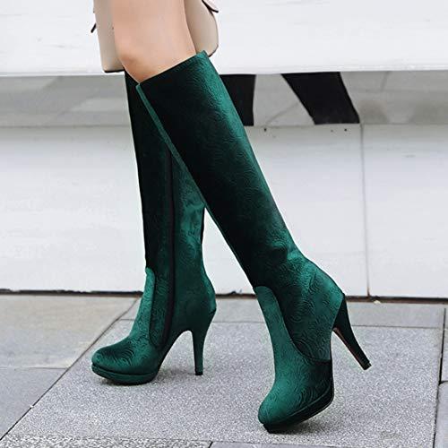Aiyoumei Classici Stivali Classici Stivali Aiyoumei Stivali Verde Verde Donna Classici Donna Verde Aiyoumei Donna SxtpH6