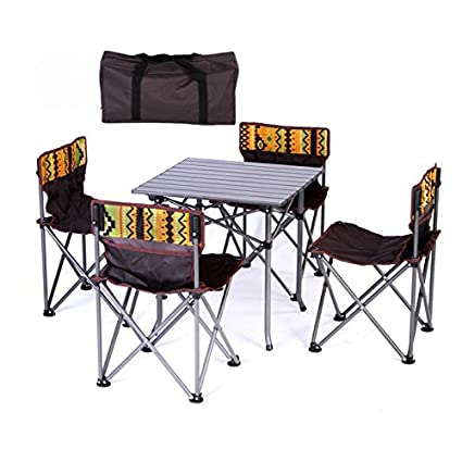 Remarkable Amazon Com Mho Portable Folding Camping Table Chairs Set Inzonedesignstudio Interior Chair Design Inzonedesignstudiocom
