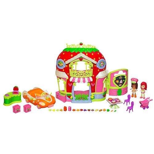 Strawberry Shortcake Bitty Berry Market Playset with Bonus Orange Blossom Doll & Vehicle