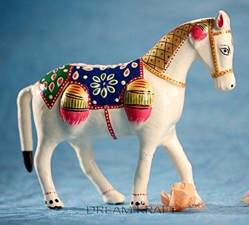 Pm Fig (DreamKraft Paper Mache Horse Showpiece Idol For Home Decor Standard White)