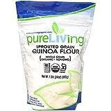 Pure Living Liv Organic Sprouted Quinoa Flour -- 24 oz