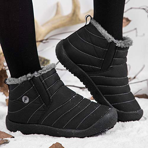 VAMV Kids Snow Boots for Boys Girls Waterproof Winter Warm Shoes Lightweight