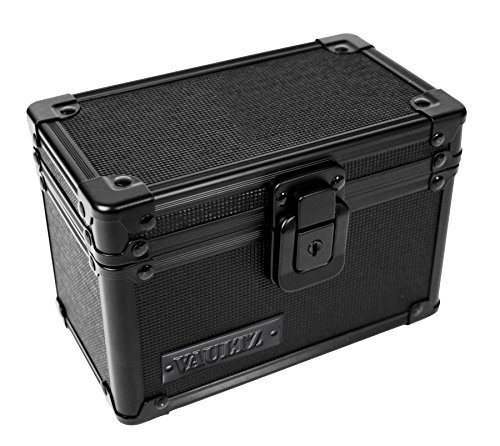 Aluminum Lock Tactical Case - Vaultz Locking 3 x 5 Index Card Box, Tactical Black (VZ00315)