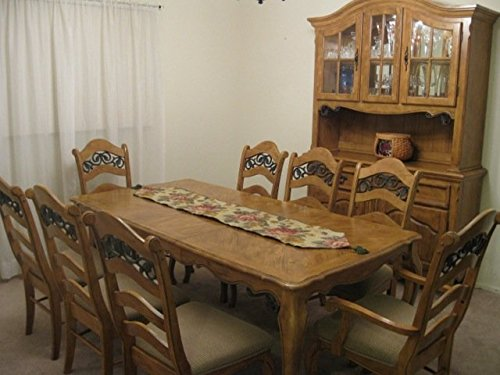 11 pc solid pine wood DINING ROOM set