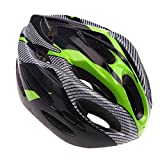 Anself 21 Vents Ultralight Sports Cycling Helmet with Lining Pad Mountain Bike Bicycle Adult Green