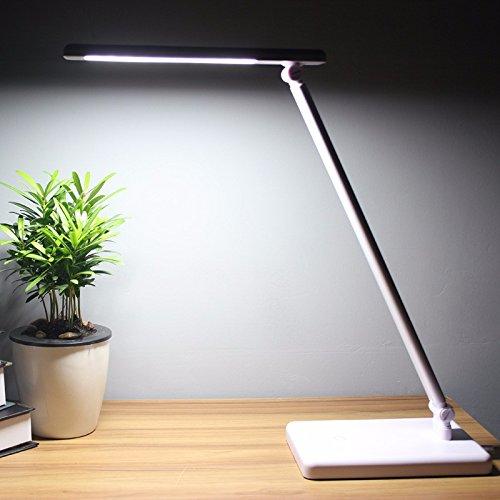 LED Touch falten Schreibtischlampe, Augenschutz Schreibtischlampe für Kinder Schreibtischlampe, Weiß