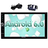 EinCar Android 6.0 Car Stereo Double Din 7'' Touch Screen Car Radio Receiver In Dash GPS Navigation Head unit with Bluetooth WiFi AM/FM External Microphone Mirror Link + Free Backup Camera