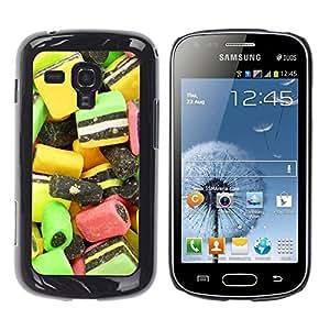 Paccase / SLIM PC / Aliminium Casa Carcasa Funda Case Cover - Design Candy Macro - Samsung Galaxy S Duos S7562