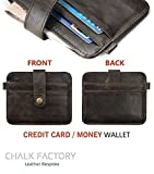 Chalk Factory Brown Leather Credit Card Case