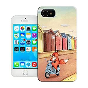 Unique Phone Case Fox on Vespa Scooter Hard Cover for 5.5 inches iphone 6 plus cases-buythecase
