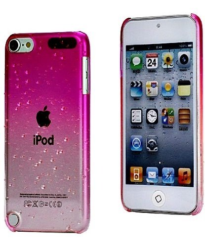 sale retailer 234fe aa1e5 iPod Touch 5th Generation Pink Clear Water Drops Girly Case Snap Cover+2  Free Screen Protector Pack