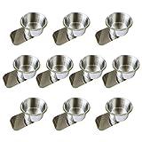 #3: YH Poker Lot of 10 Stainless Steel Slide Under Cup Holder