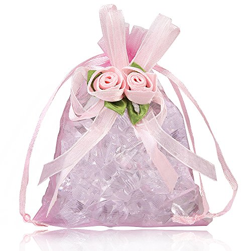 9997d89fbef3 BZCTAH Tulie Drawstring Gift Bags, 20Pcs Tulie Jewelry Pouches for Party  Wedding Christmas Valentine Favors, Tulle Organza Gift Bags, 4.3