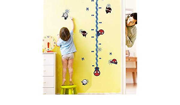 Amazon.com: Best Choise Product Carton Spider-Man Growth Chart Wall Stickers for Kids Baby Nursery Bedroom Height Measure Decor Home Decal Spiderman Art: ...