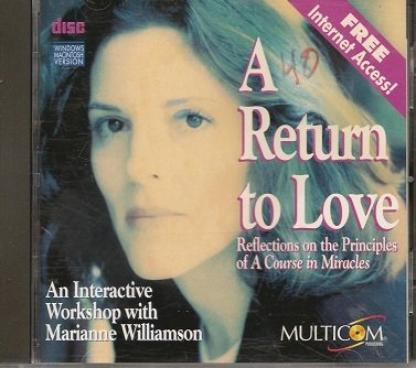 A RETURN TO LOVE CD-ROM MARIANNE WILLIAMSON