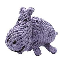 Jax & Bones Jumbo Good Karma Rope Toy, Hank The Hippo 12-Inch