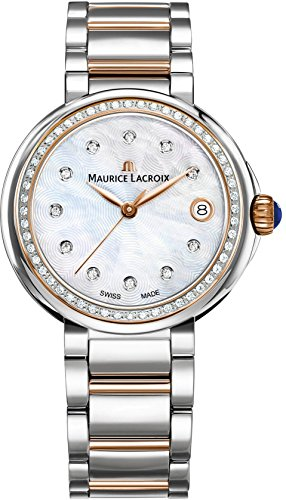 Maurice Lacroix Women's 'Fiaba' Swiss Quartz Silver and Gold and Stainless Steel Casual Watch, Color:Two Tone (Model: FA1007-PVP23-170-1)