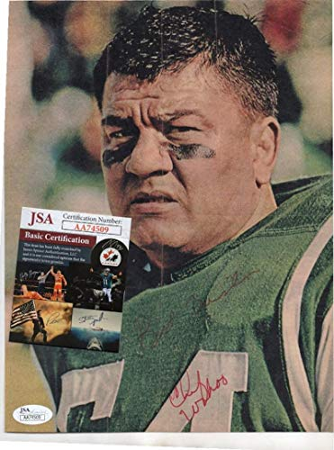 Used, Chief Wahoo Mcdaniel Jets/wrestler Rare Signed Magazine for sale  Delivered anywhere in USA
