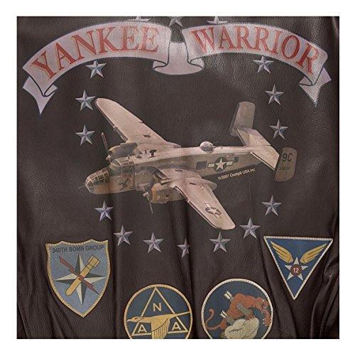 Blouson Aviateur A2 en cuir YANKEE WARRIOR COCKPIT USA ex AVIREX Peint à la Main MADE IN USA