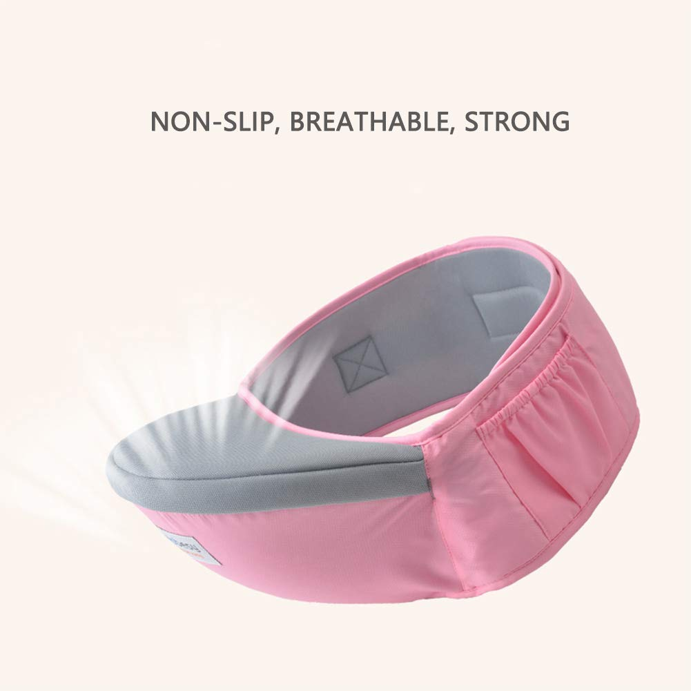 Baby Adjustable Hip Seat Support Comfortable Hip Carrier Belt Carrier Cotton Pocket Hip Carrier Padded Soft Waist Seat Lightweight Soft Waist Stool for Camping Travel