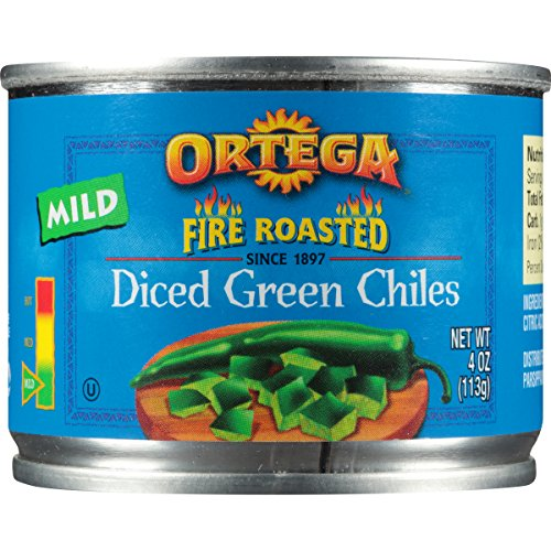 Diced Mild - Ortega Fire Roasted Diced Green Chiles, Mild, Diced, 4 oz