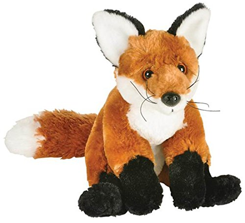 d Fox Stuffed Animal Plush Floppy Zoo Animal Den Collection ()