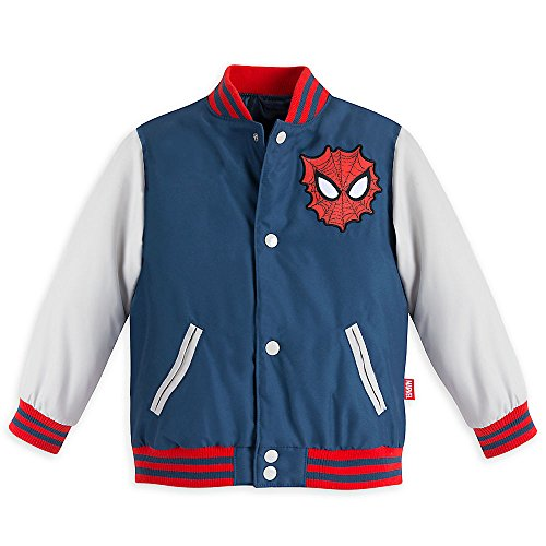 Marvel Boys Spider-Man Varsity Jacket Blue