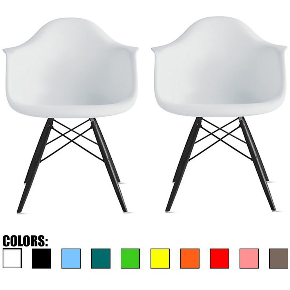 Mobistyl® Verkauf 4 x Design-Sessel Scandinavian Design Schwarz ...