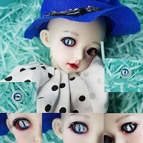 アリスの人形屋Bjd 青猫の目瞳眼球 12 ミリメートル 14 ミリメートル 16 ミリメートル 18 ミリメートル 20 ミリメートル 22 ミリメートルアクリル眼球 bjd 人形手作りプラスチック目 1/4 1/6 SD 人形