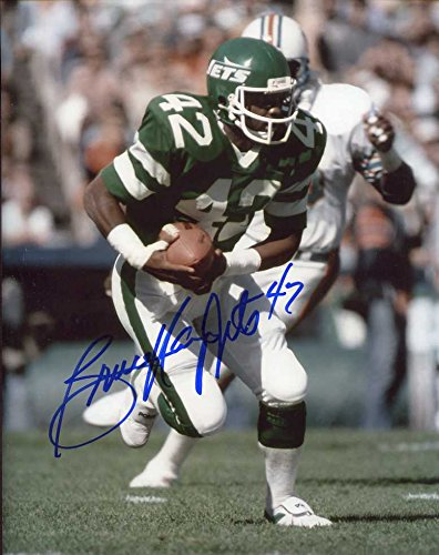- Bruce Harper Autographed/Original Signed Color 8x10 Action-photo w/the New York Jets (1977-1984)