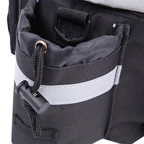 PanelTech Bicycle Cycling Sport Rear Rack Seat Trunk Bag Bike Mountain Handbag Storage Expanding Carry Strap Portable Shoulder Saddle Bag with Water Holder by PanelTech (Image #4)