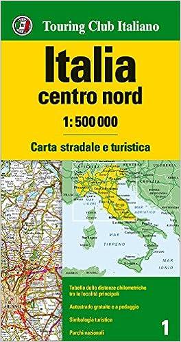 Cartina Geografica Italia Centro.Amazon It Italia Centro Nord 1 500 000 Carta Stradale E